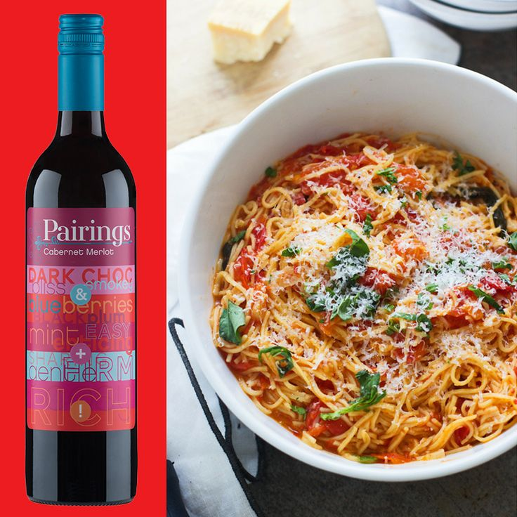 Looking for a vego pairing to team with our Wine of the Month; Cabernet Merlot? Look no further than this One Pot Tomato Pasta! One pot = less mess = happy cook! Recipe: Cooking for Keeps