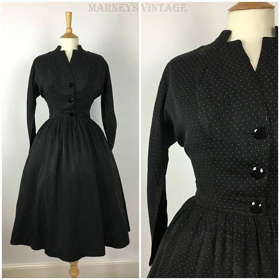 Vintage 1940s Dress Suit  Polka Dot 40s Two Piece Suit