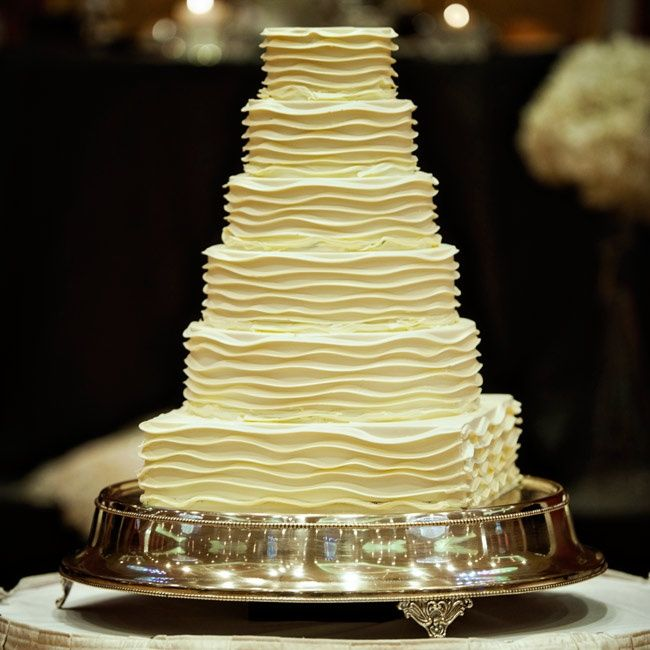 Captivating Find This Pin And More On A Grand Rapids Bride. White Ruffled Wedding Cake  ...