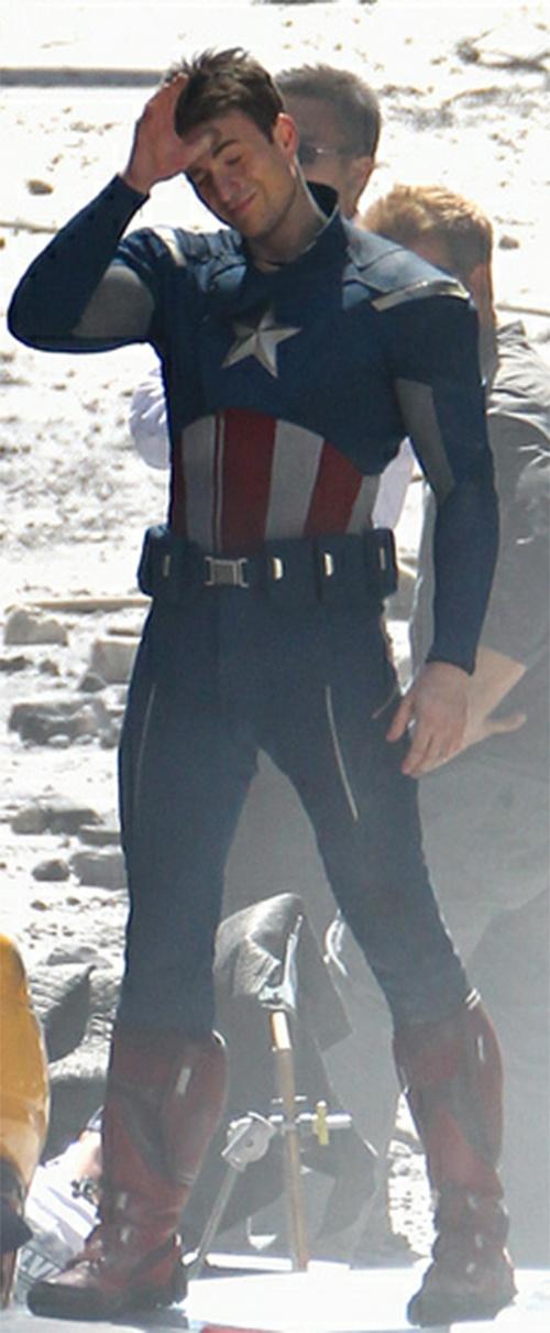 Chris Evans as Captain America, my favorite Avenger.