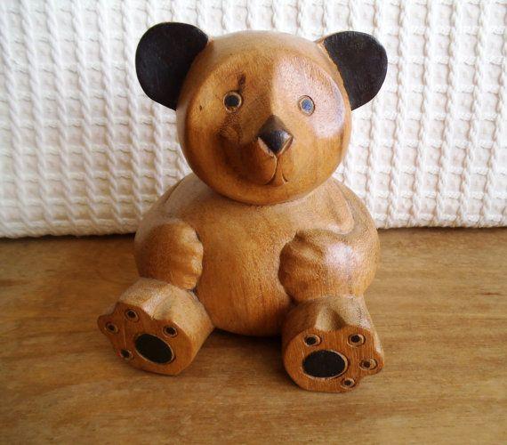 hand carved wood bears 2