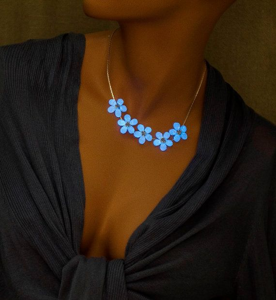 Hey, I found this really awesome Etsy listing at https://www.etsy.com/listing/238543097/glowing-bib-necklace-blue-white-glow-in