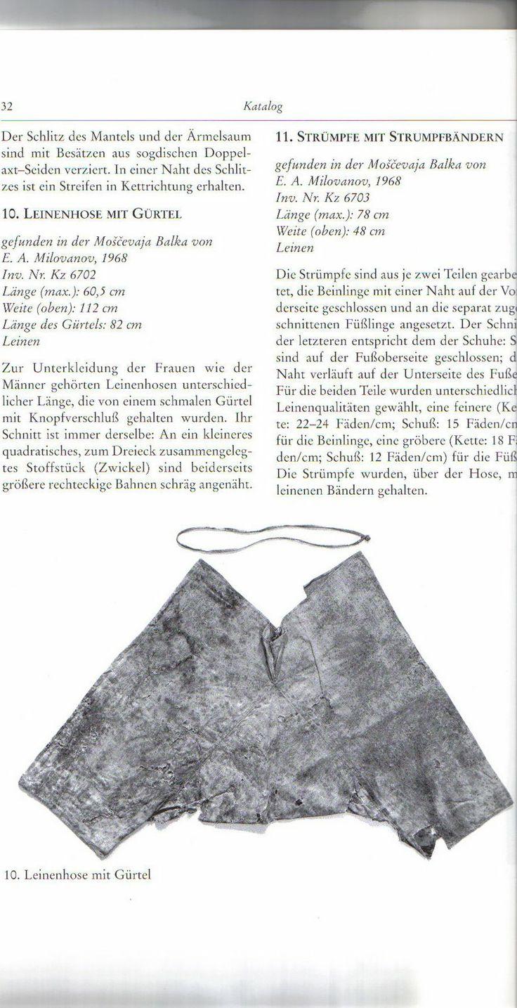 Slavic (Moshchevaya Balka in the Caucasus Mountains) short trousers / braies C8th - C9th