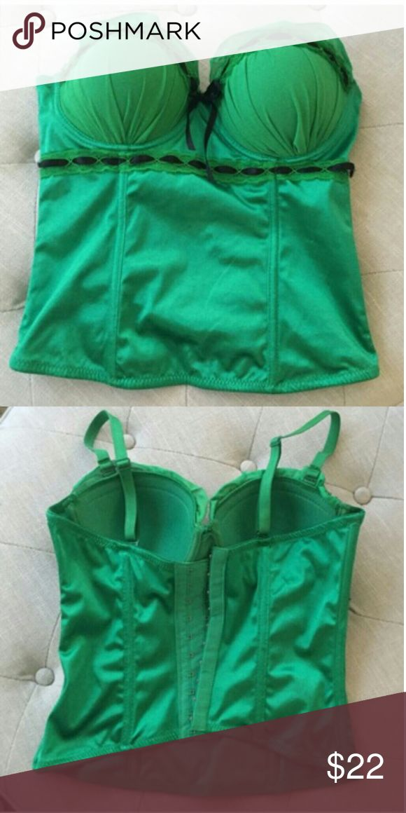 Sexy Green Lingerie Top New! Excellent condition. Machine washable.  Amazing green push up top, very sexy!! Intimates & Sleepwear Shapewear