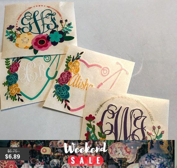 #Boho #Monogram #Yeti #Decal #vinyl #monogram #sticker, #Deer #floral #bohemian #sticker #Antler #party #gifts #wedding #gifts #tumbler