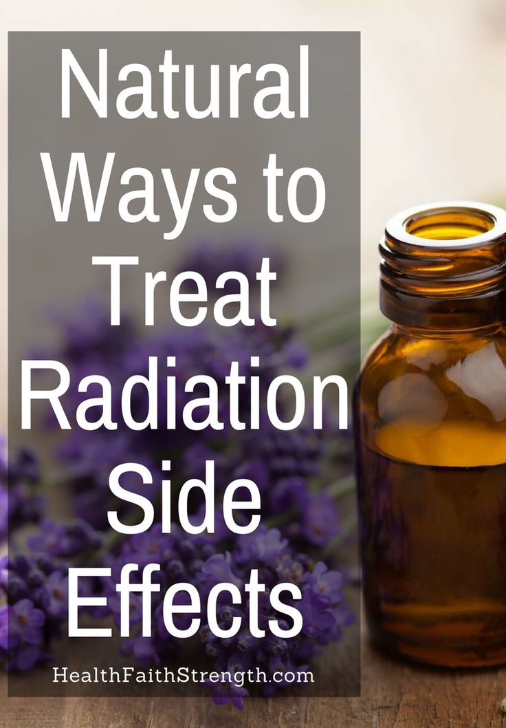While radiation itself isn't painful, the side-effects and damage that it causes certainly can be. So here are some natural ways to treat radiation side effects. | HealthFaithStrength.com