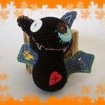 Crocheted bat/Horgolt denevér