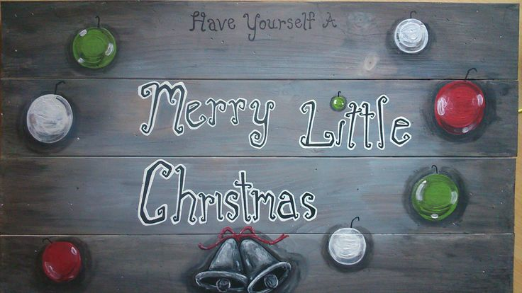 Have Yourself a Merry Little Christmas- Wooden Sign by marymakeskeepsakes on Etsy
