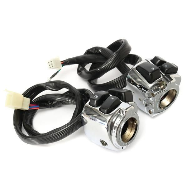 1 Inch Handlebar Control Switches With Wiring Harness For Harley Motorcycle Motorrad Kabel Schalter