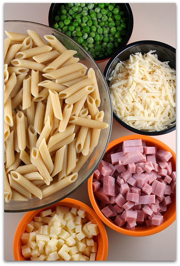 Cheesy Baked Penne (to use up leftover ham)