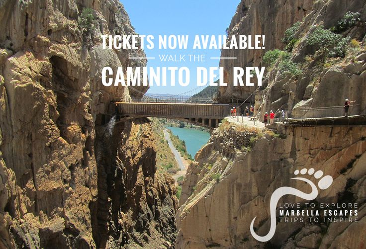 Marbella Escapes  Caminito del Rey tickets now available! Book now as they'll be snapped up quickly!  http://marbellaescapes.com/tours/caminito-del-rey/