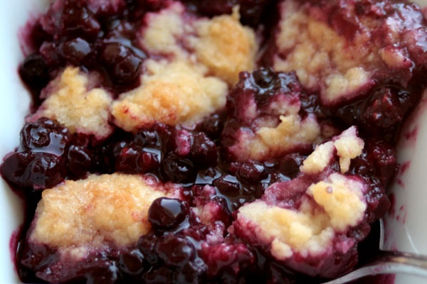 "Berry cobbler... ""black raspberry cobbler"" but can be used with any kind of berries (or a mixture)!  This is the BEST cobbler... and soooooo easy!"