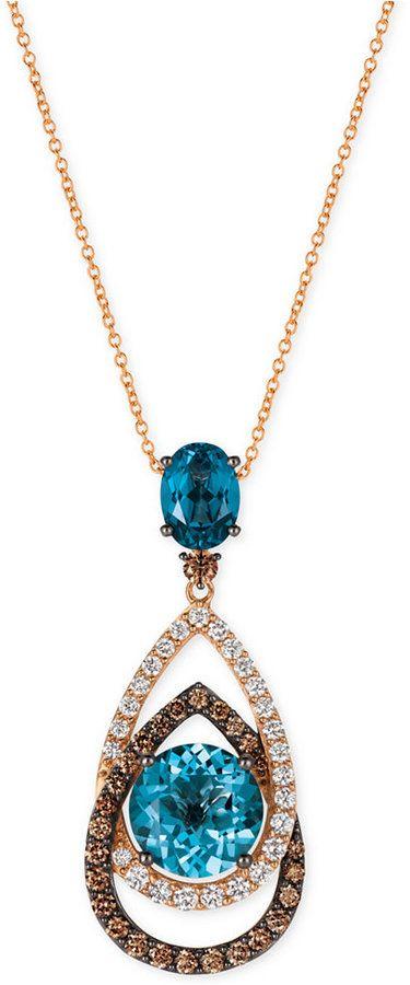 Fine Jewelry Grand Sample Sale by Le Vian Chocolatier Chocolate & Vanilla Diamonds Snake Pendant in 14k Vanilla Gold zjmX9x