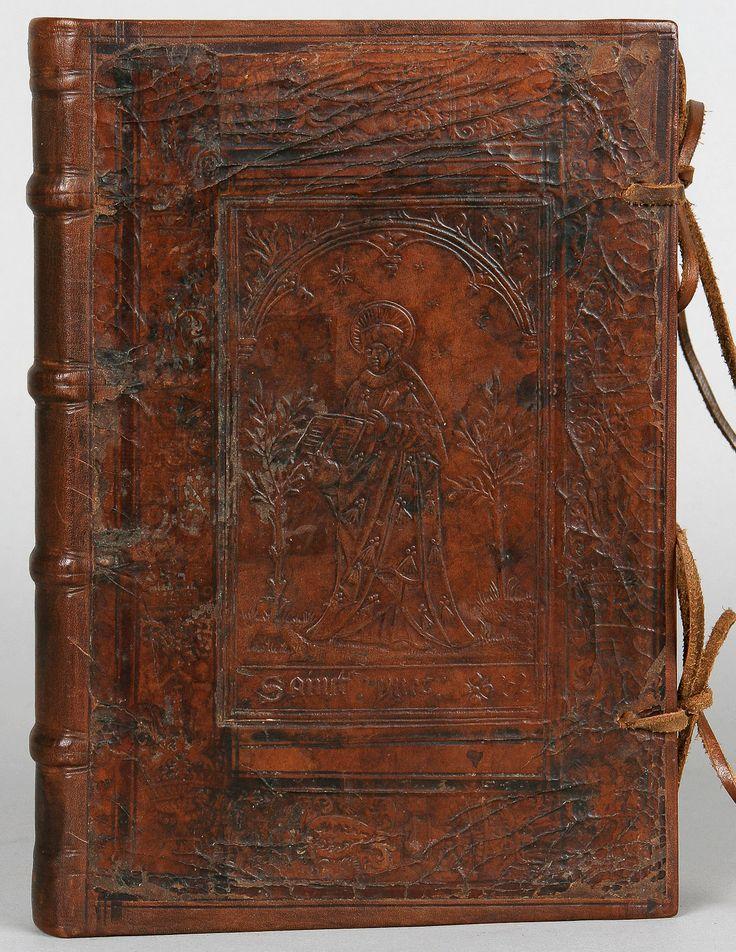 Reliure à la plaque figurant ″Sainct Yves″. DATE: 1513-1522