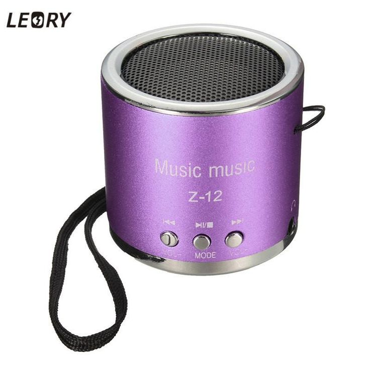 LEORY Z12 Portable Mini Cylinder Speaker Amplifier Sound Radio Music FM HIFI Support USB Micro Line-in for SD TF Card MP3 Player
