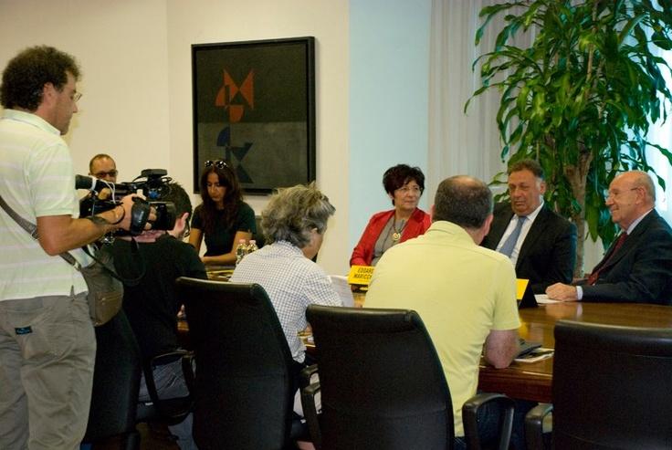 I relatori rispondono alle domande dei giornalisti