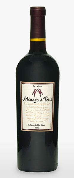 Menage a Trois California Red Wine, Folie a Deux Winery, Oakville, California