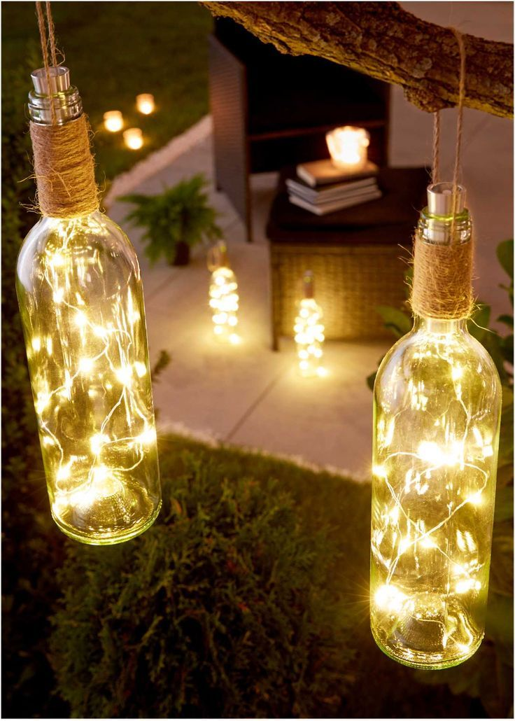 """LED-Deko """"Weinflasche"""" mit hübschem Lichteffekt"""
