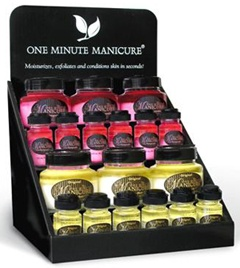 One Minute Manicure - One Minute Manicure is a one step spa treatment that exfoliates, moisturizes and conditions your hands, feet and body using a botanically-based balance of high quality food grade oils and a fine blend of proprietary salts which includes Mediterranean Sea salt and salt from the Dead Sea. You'll have soft, touchable skin after just one use. Just rub it on your hands and around nails, rinse with warm water, pat dry and feel the magic!