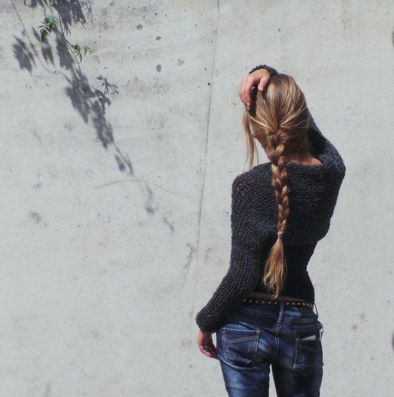 Gris se encogen de suéter gris por ileaiye en Etsy