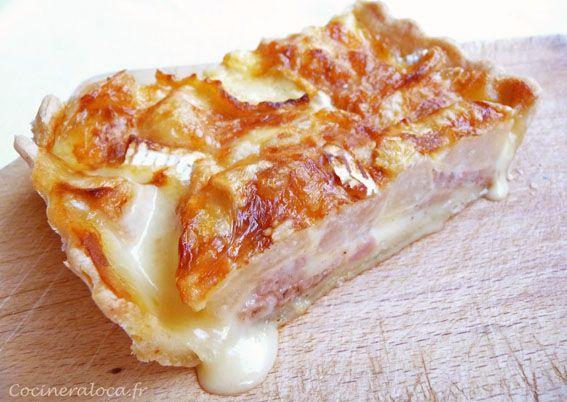 tarte à l'andouille de Vire et au camembert ©cocineraloca.fr