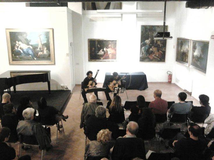 Duo di chitarre a Ca' la Ghironda ModernArtMuseum (Bologna). Giugno 2013 #FraArteNatura