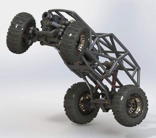 3D Printed Micro Rock Crawlers - 3D Printing Industry #3dPrintedAutomotive