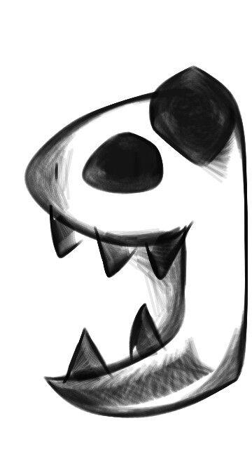 Evil happy panda