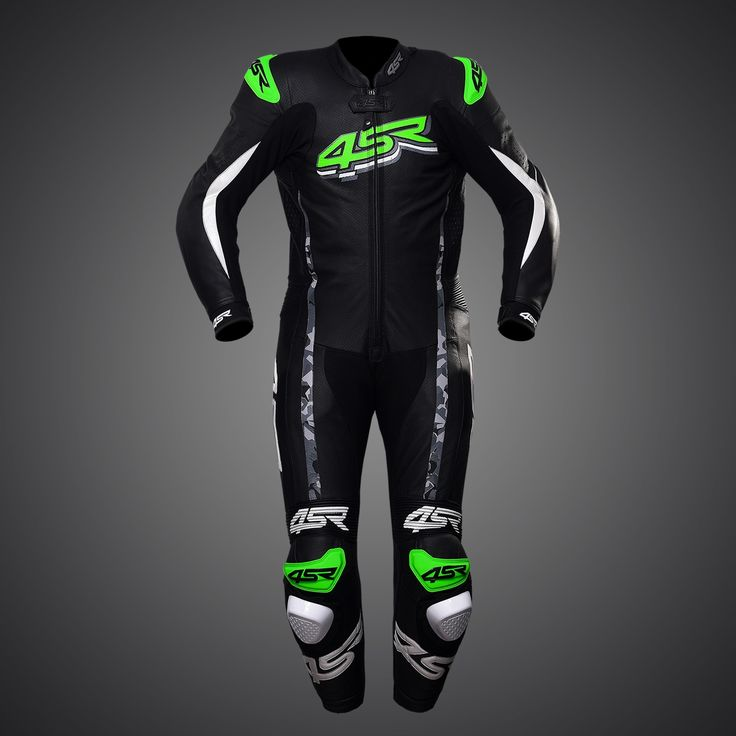 4SR one-piece suit Racing Monster Green #leathersuit #leathers #leather #suit