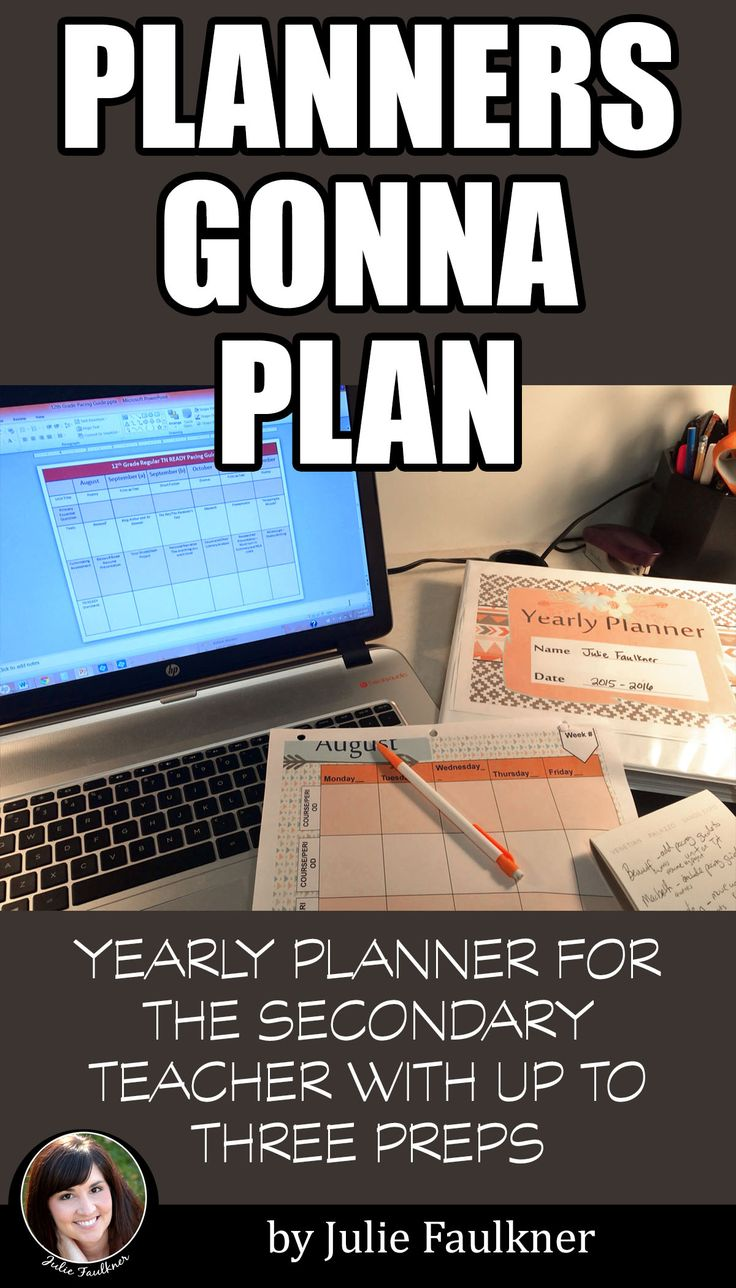 Planners Gonna Plan | Back to School | Planner for Middle School and High School Teachers | Three Preps | Tribal Aztec Design