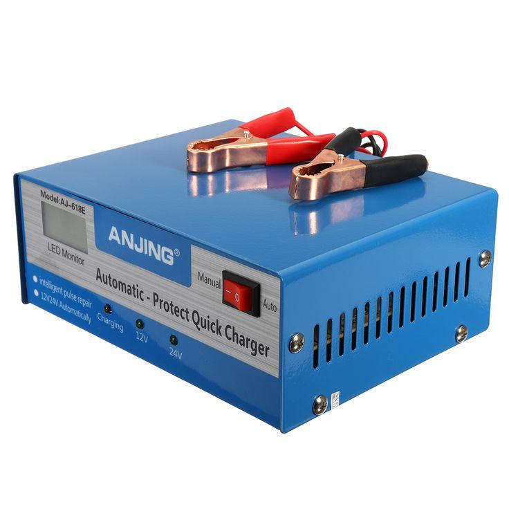 Coche Batería cargador automático completo inteligente 200AH pulso reparación 250V 12 / 24V