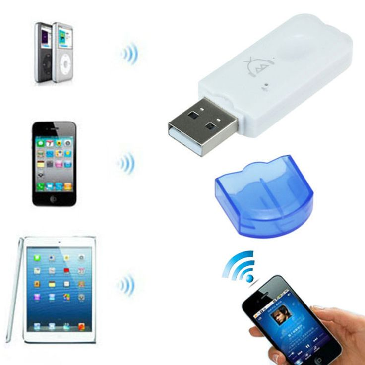 Hot Sale High Quality New USB Wireless Handsfree Bluetooth Audio Music Receiver Adapter for iPhone 4 5 Mp4