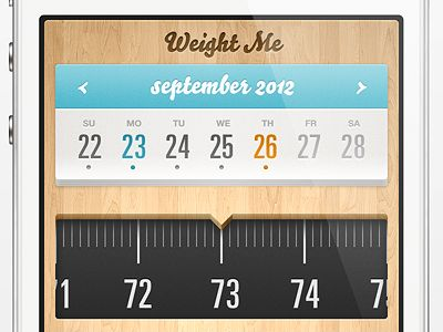 Dribbble - Weight Me iPhone App by Jozef Mak