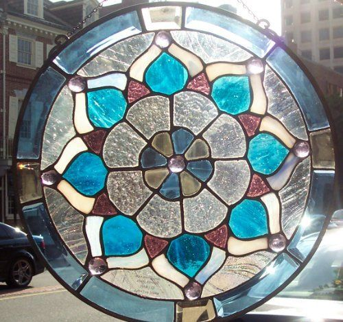 Stained glass window panel 12 39 39 x12 39 39 round 9038 17 by for 12 round window