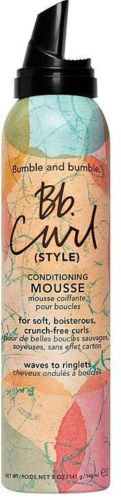 Bumble and bumble Bb. Curl (Style) Conditioning Mousse.  This Brazilian oil-infused Conditioning Mousse helps create touchably soft, boisterous, frizz-free curls.