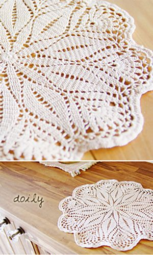 This comes with a free chart and looks fairly simple to make. I might just try it, increasing the gauge quite a bit to make a child sized blanket. The pattern is 29-45 Doily and it is on Ravelry.