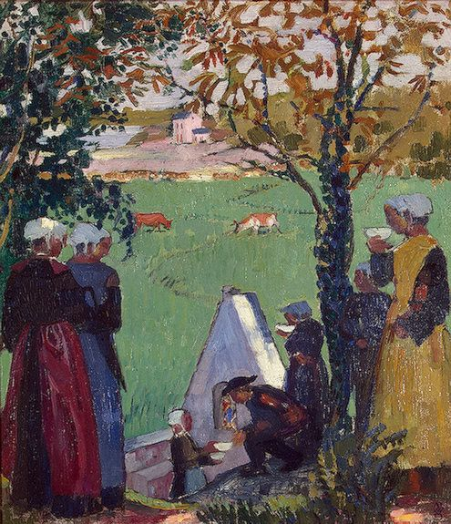 Maurice Denis — The Sacred Spring at Guidel, 1905, Maurice...