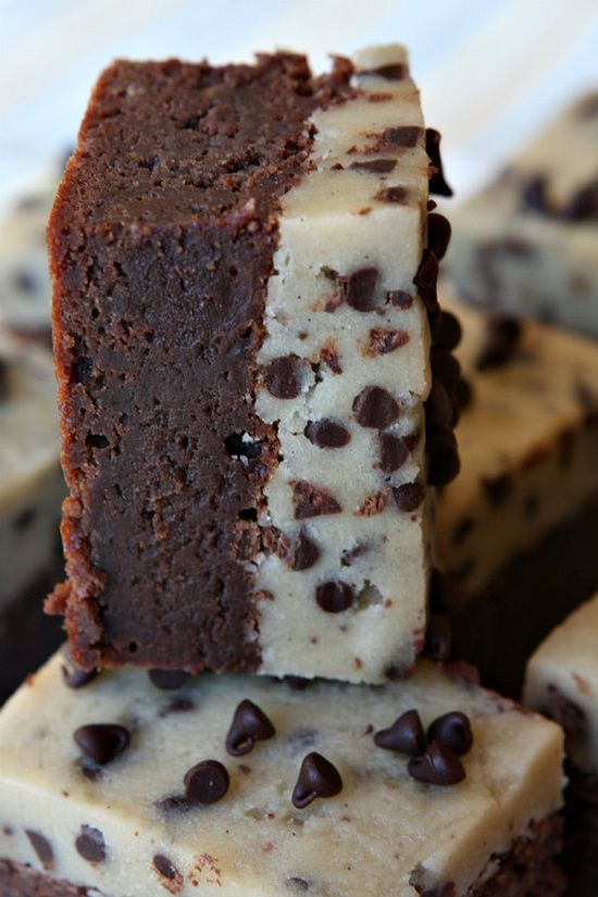 Chocolate Chip Cookie Dough Brownies Brownies Recipes, Chocolate Chips ...