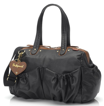 Babymel Wendy in Black. The Wendy black weekender is a stylish and practical leather-look bag. $179 and available at www.dollface.com.au