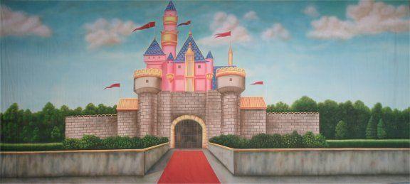 Whimsical Castle Backdrop   cinderella confidential