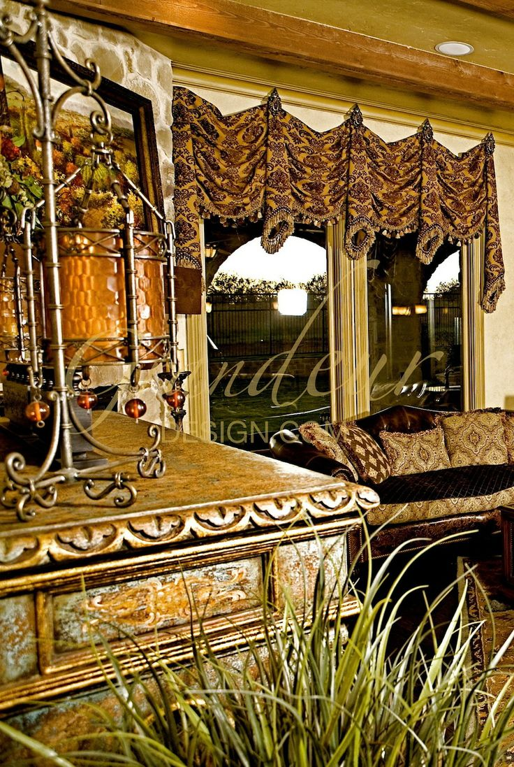 1000 images about curtains on pinterest tuscan curtains for Old world window treatments