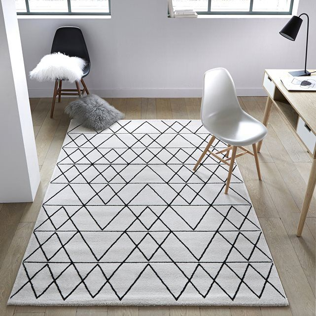 Les 25 meilleures id es concernant tapis noir et blanc sur pinterest tapis - Tapis blanc pas cher ...