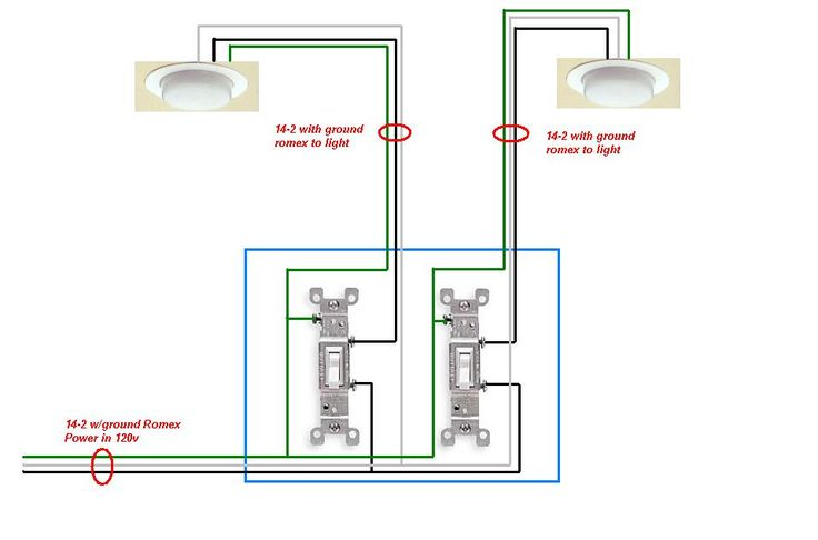 Need To Install 2 Switches To Control 1 Can Each Out Of 4