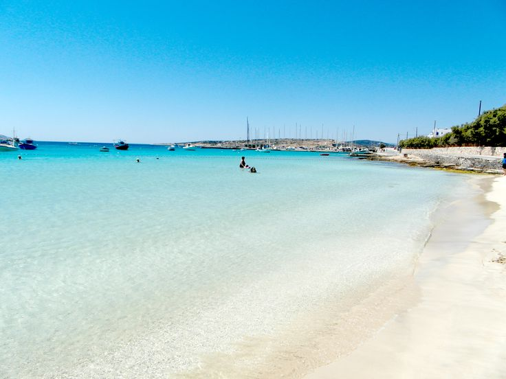 The sandy beach on Pori beach Koufonisia, Greece http://greklandsbloggen.se/