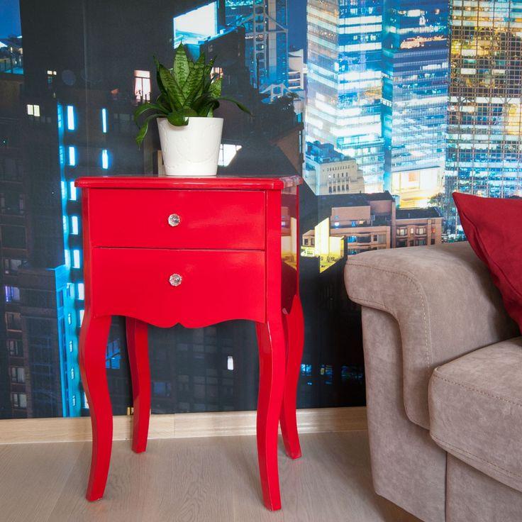 Alice éjjeliszekrény #otthon #dekor #lakásdekor #piros #éjjeliszekrény