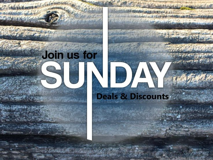Lot's of #Deals & #Discounts on this #Sunday . Join us now @ #TogoFogo