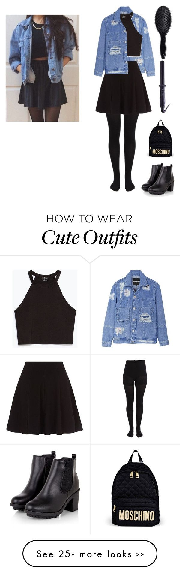 """matching"" by fashionbloggerxxx on Polyvore featuring House of Holland, Pieces, Zara, Moschino, Sultra and H&M"