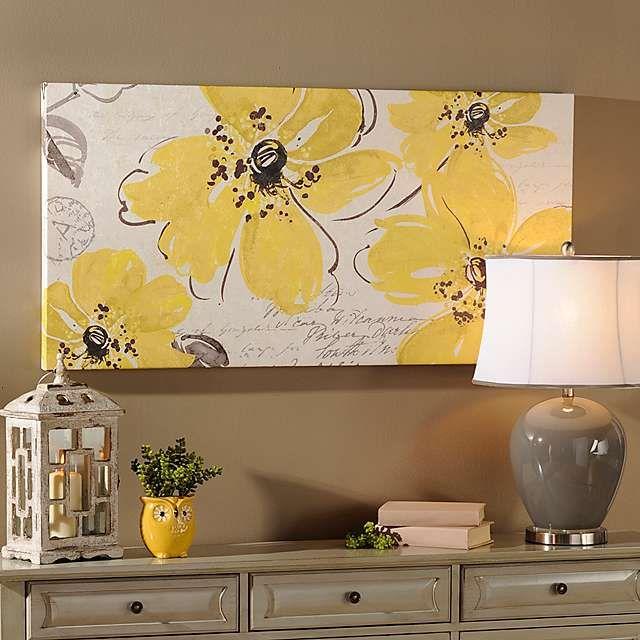 Windy Yellow Canvas Art Print | Kirklands