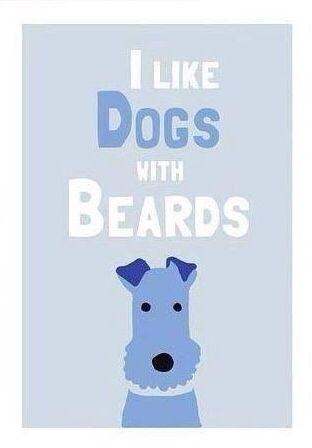 I like dogs with beards!