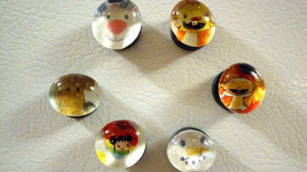 Glass Bead Magnets Craft
